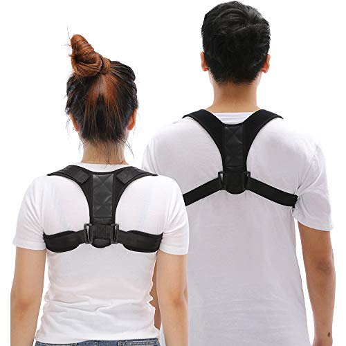 2PCS Posture Corrector for Men and Women, Upper Back Brace for Clavicle Support, Adjustable Back Straightener and Providing Pain Relief from Neck, Back & Shoulder(Universal)