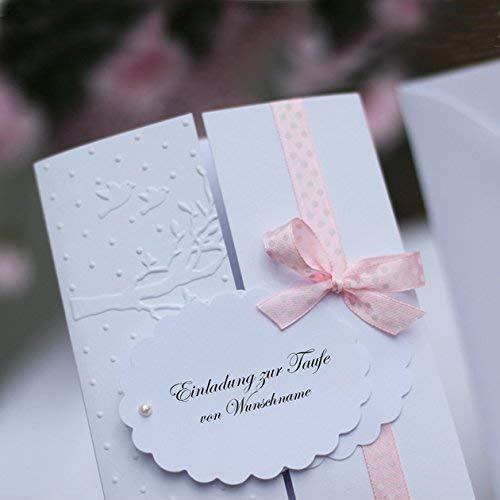 Karte Taufe Einladung.10 Personalisierte Einladungskarten Einladung Taufeinladung Karten