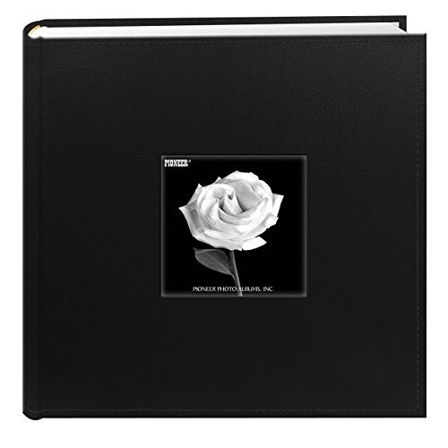 Pioneer Photo Albums 200 Pocket Sewn Leatherette Frame Cover Photo Album, 4 by 6-Inch, Black