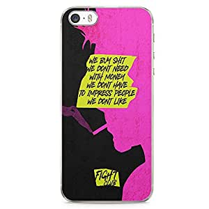 Loud Universe Bradd Pitt Quote We dont need iPhone 5 / 5s Case with Transparent Edges Fight Club Phone Case
