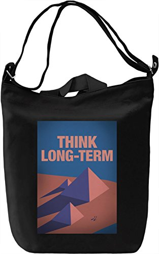 Think long-term Borsa Giornaliera Canvas Canvas Day Bag| 100% Premium Cotton Canvas| DTG Printing|