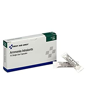 First Aid Only Ammonia Inhalants, 10 Per Box