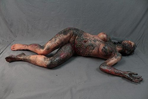 BACK FROM THE GRAVE Burnt Female Cadaver The Walking Dead Zombie | Halloween Prop - Haunted House Corpse
