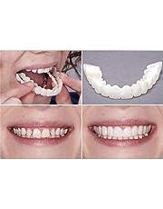 URFEDA Magische tanden glimlachen perfect snap fineers, tijdelijke cosmetische tanden cover Instant Tooth Repair Kit, siliconen thermische montage kralen voor Snap Covering ontbrekende tanden, Beauty Tool Prothes- 1 paar