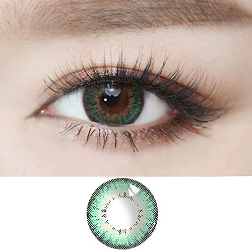 HXS Contacts_Colored for Eyes Women's Makeup Accessories Special Gifts for Girls Women,Decorations for Party Cosplay and Daily Use (2pcs,Green)