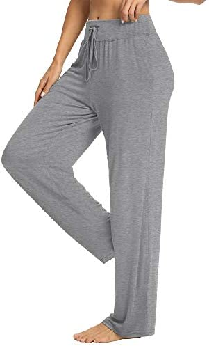 PACBREEZE Women's Loose Yoga Pajama Pants Wide Straight-Leg Casual Workout Running Sporting Active Pants with Pockets 4