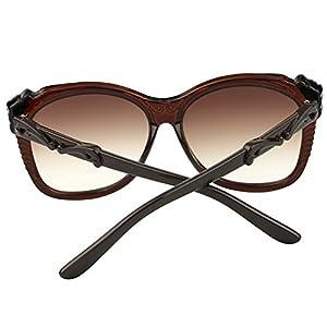 Sumery Women 2016 Retro Round Frame Sunglasses Ladies 4PCS (Brown, Brown)
