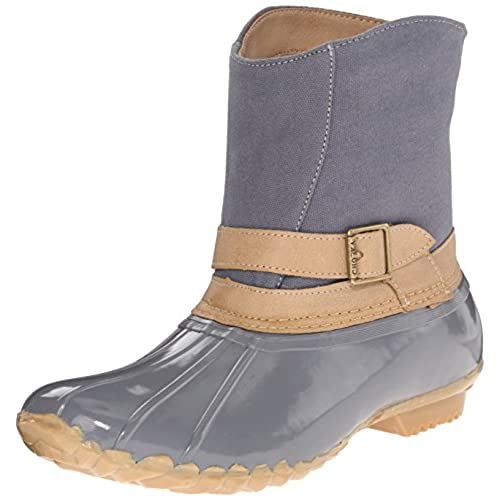 Chooka Women's Canvas Step-In Duck Ankle Rain Boot low-cost ...