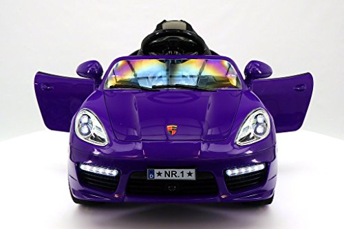 2017 Luxury Moderno Kids 12V Ride-On Sports Car with Remote, Leather Seat, Dinning Table, 2 Speeds