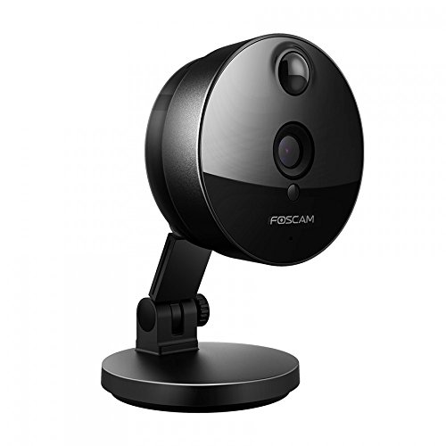 Foscam C1 HD 720P WiFi Security IP Camera with iOS/Android App, Super Wide 115° Viewing Angle, Night Vision Up to 26ft, PIR Motion Detection, and More