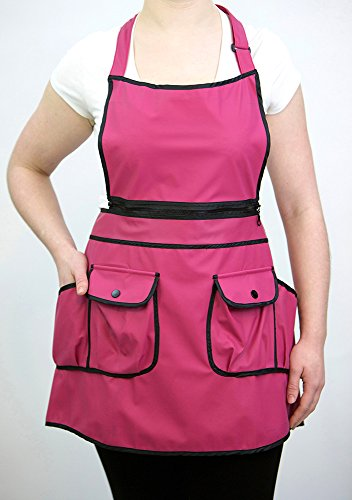 Courtney Convertible Apron 9044 Raspberry product image