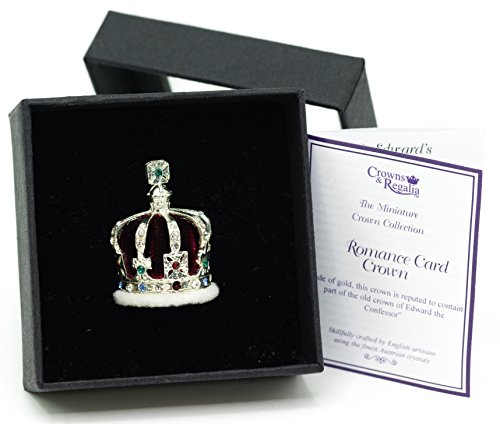 Crown Miniature - British Crown of India Miniature Crown, Hand Made in UK by Crowns&Regalia, Studded with Swarovski Elements