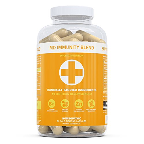 PROMIX Vitamin C Complex Capsules with Zinc and B-12, 100% Daily Value | Boost Immune System and Fight Colds, Non-GMO Supplement