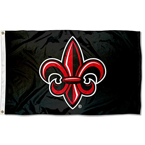- College Flags and Banners Co. Louisiana Lafayette Ragin Cajuns Fleur de lis Black Flag