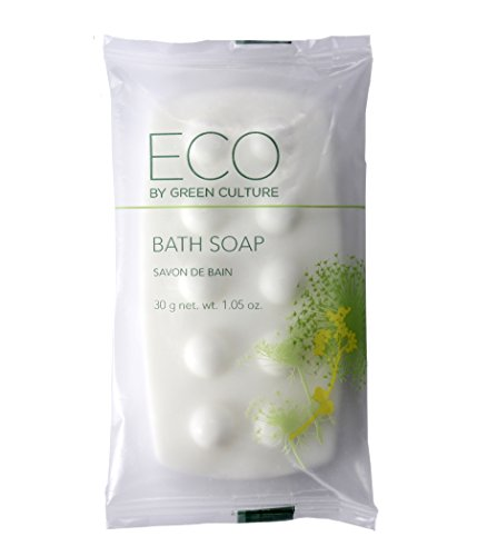Price comparison product image Eco by Green Culture Hotel Amenities Body Soap Bar, 1oz, 100 per case (100 Pack)