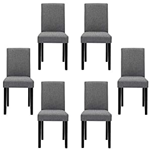 Chairs for Dining Room 6 Mid Century Modern Fabric Upholstered Dining Chairs