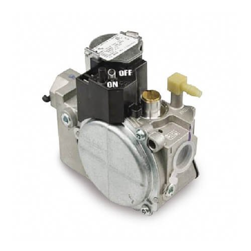 Combination Gas Valve, 2 Stage, Slow Opening, LP gas conversion kit, Bottom outlet with 1/8