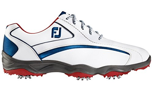 FootJoy FTJ58009-12 Medium Superlites Mens Golf Shoes, White & Navy - 12 Medium (Footjoy Shoes compare prices)