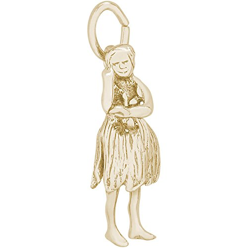 Rembrandt Charms 10K Yellow Gold Hula Dancer Charm (0.83 x 0.36 inches) by Rembrandt Charms