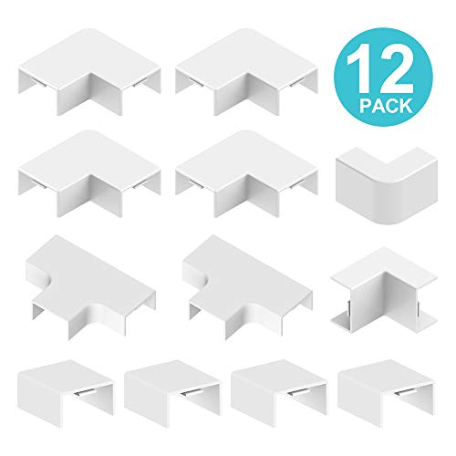 12 Pack Cable Accessory Kit - UMTELE Large Cable Connector Concealer Cord Cover for Large Cable -
