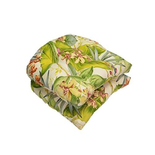 Outdoor Seat Cushions Tropical Print Amazon Com