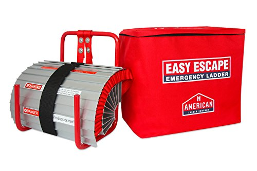 Easy Escape 2 Story Emergency Fire Escape Ladder by American Ladder Co | 13ft Portable Escape Ladder | Small and Easy to Store | Full Customer Warranty