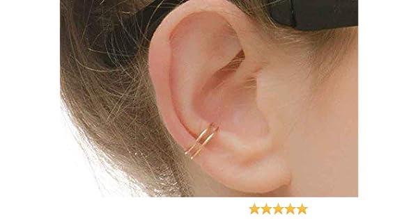 Double Band Helix Earcuff 14k Gold Filled Cuff Earring Ear Wrap