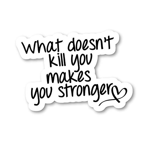 What Doesn't Kill You Makes You Stronger Sticker Inspirational Quotes Stickers - 2 Pack - Laptop Stickers - 2.5