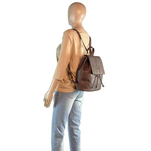 Corkor Cork Backpack - Vegan Handbag For Women Top Flap Back Pack Travel School Brown Color by Corkor (Image #8)
