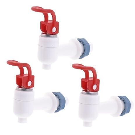 Empurre DealMux Plastic Estilo dispensador de água Faucet Tap, Vermelho Branco, 3 peça