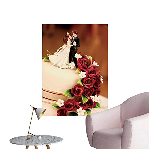 SeptSonne Modern Painting Bride Groom Figures on a wed Cake Home Decoration,24