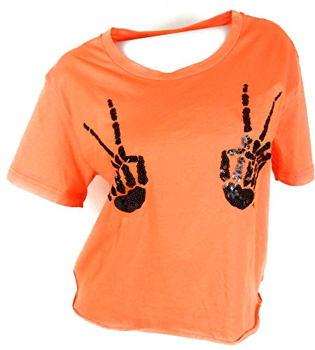Victoria's..Secret Pink Tshirt Halloween Skeleton Hands Large]()