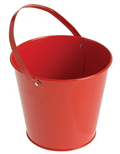 Red Decorative Metal Mini Bucket With Handle (1)
