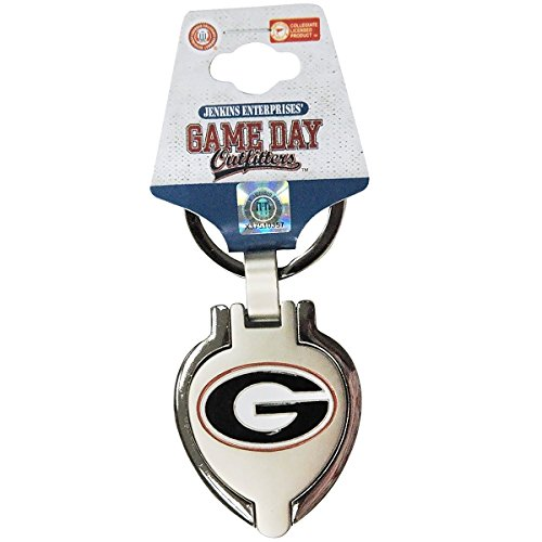 NCAA Georgia Bulldogs Metal Heart Locket Keychain