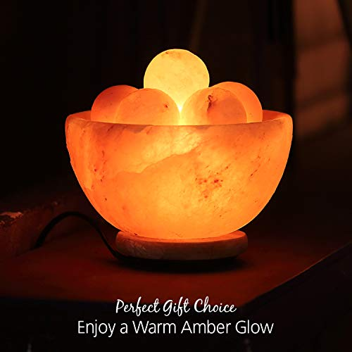 Himalayan Glow 1328 Bowl Salt lamp with Massage Ball by Himalayan Glow (Image #3)