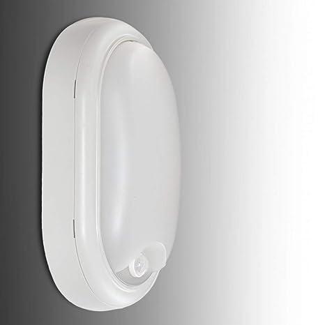 Greenice | Aplique LED IP54 15W 1050Lm 30.000H Detector de Presencia | Blanco Natural