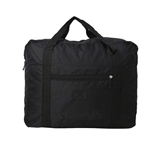ForHe Lightweight Waterproof Foldable Travel Storage Carry Luggage Duffle Tote Bag Organizer,Black