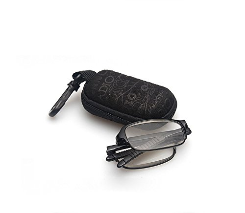 b12186977bf Fashion Compact Mini TR90 Pocket Folding Reading Glasses Presbyopia Readers  Eyeglasses with Clip Holder Zipper Case