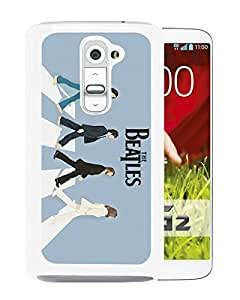 Beautiful Designed Cover Case For LG G2 With The Beatles Abbey Road White Phone Case