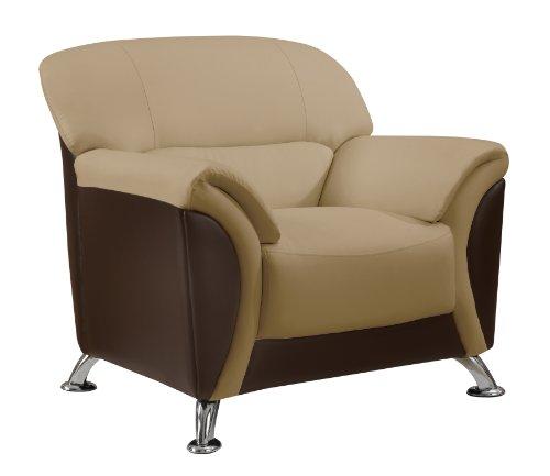 Global Furniture Chair, Cappuccino/Chocolate PVC Finish