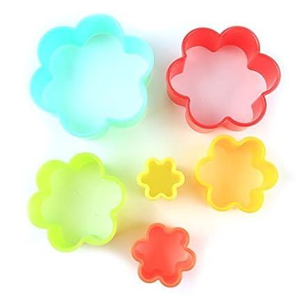 DealMux Plastic Casa Cozinha Bakeware flor em forma Muffin Bolo Cupcake Moldes 6 em 1