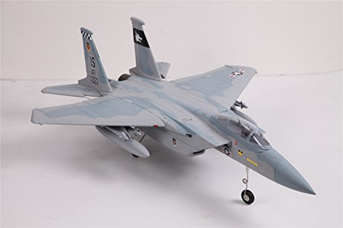 FMS 64mm F-15 Eagle V2 Ducted Fan EDF Sky Camo RC Airplane Jet 4S PNP(no Radio, Battery, Charger) ()