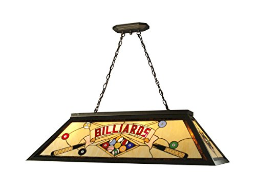 Springdale FTH10021 Billiards Pool Table Tiffany Island Hanging Fixture, Antique Bronze
