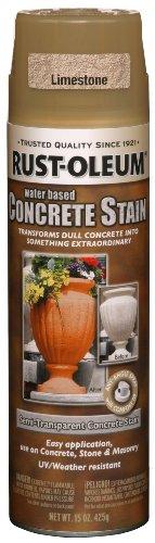 - Rust-Oleum 247163 Concrete Stain Spray, Limestone, 15-Ounce