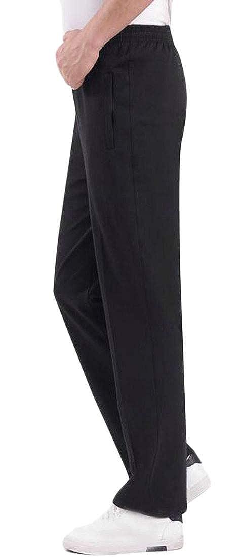XiaoTianXin-men clothes XTX Mens Casual Elastic Waist Sport Breathable Straight Fit Sweatpant Pants