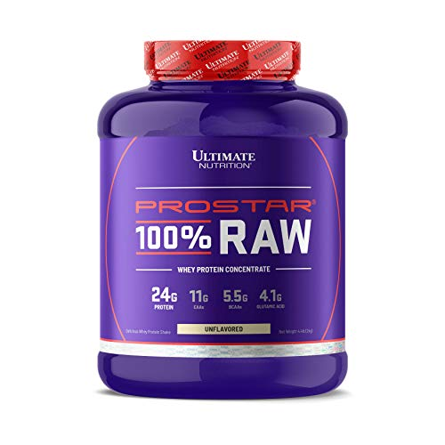 Ultimate Nutrition Prostar RAW Whey Protein Powder - Single Ingredient Undenatured Whey Protein, GMO Free, No Preservatives, Healthy Muscle Growth and Recovery, Natural Unflavored, 67 Servings