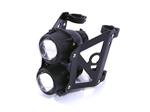 Streetfighter Moto Dual Impilati Proiettore Faro Set Omologato Supporti Fit 42mm - 43mm Forcelle Alchemy Parts Ltd