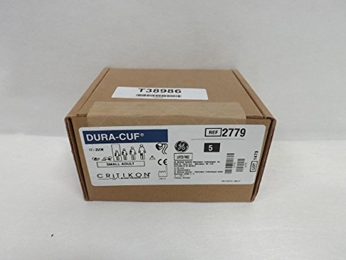 GE Healthcare 2779 Critikon Dura-Cuf Blood Pressure Cuff, 2-Tube Screw Connector, Small Adult, Royal Blue by GE (Image #1)