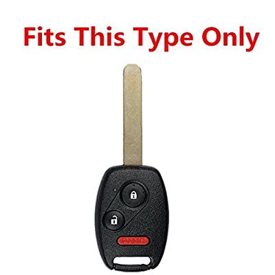Rpkey Silicone Keyless Entry Remote Control Key Fob Cover Case protector For Honda Accord Crosstour CR-V CR-Z Civic Fit Insight Odyssey Ridgeline N5F-S0084A OUCG8D-380H-A CWTWB1U545(Violet): Automotive