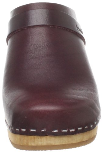 Mule swedish Women's Slip High Bordeaux In hasbeens Super HvYq7aw